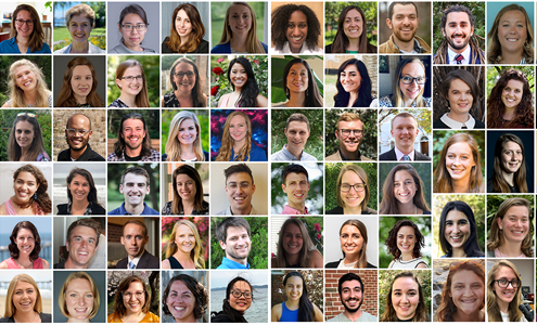 A collage of bio photos of all 69 Knauss Fellows for the 2019 cohort