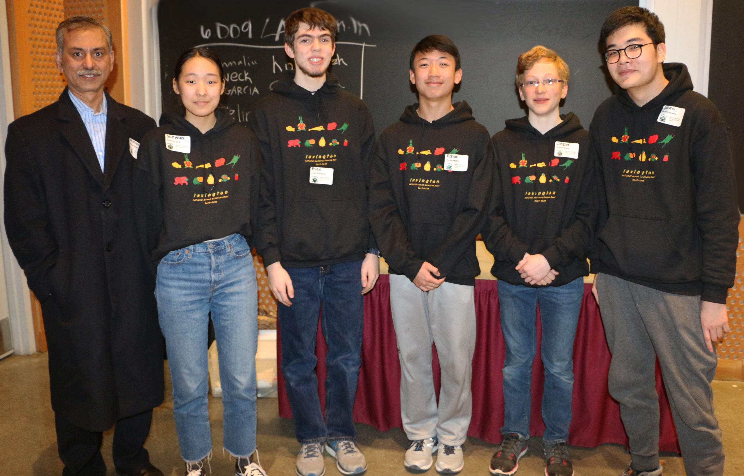 Students from the winning team, Lexington High School B
