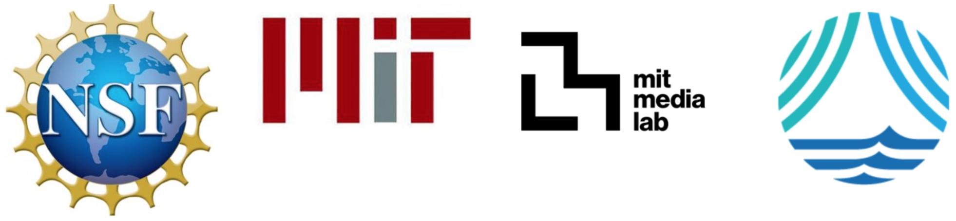 NSF, MIT, MIT Media Lab Logos