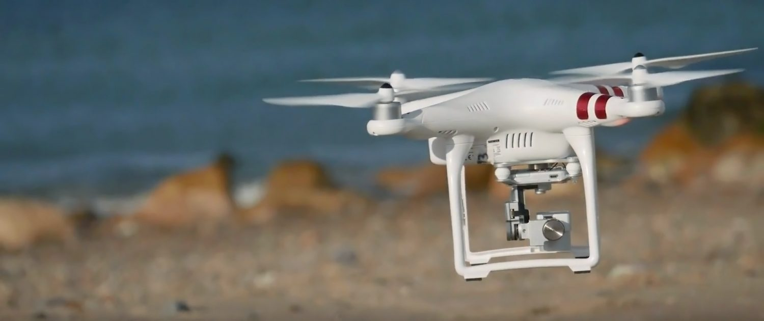 Drone used for coastal erosion mapping