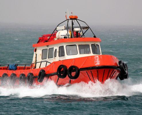 A Coast Guard boat